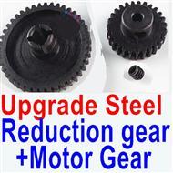 Wltoys K929-B Upgrade Steel Reduction gear + Upgrade Steel Motor gear,1/18 Wltoys K929-B RC Car Parts