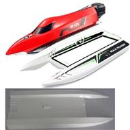 WL915 Boat Parts-01-02 The Upper body shell cover-Red & The Middle and Bottom body shell cover ,Wltoys WL915 RC Boat spare parts,WL915 Brushless motor RC Racing boat Accessories