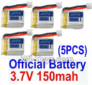 Eachine E010 Spare Parts-13 Official 3.7v 150mah Battery(5pcs),Eachine E010 RC Quadcopter Drone Spare Parts Replacement Accessories