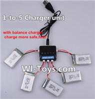 Eachine E010 Spare Parts-16 Upgrade 1-to-5 charger and balance charger(Not include the 5 battery),Eachine E010 RC Quadcopter Drone Spare Parts Replacement Accessories