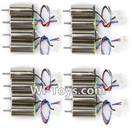 Eachine E010 Spare Parts-26 clockwise rotating Motor with Red and Blue wire(8pcs) & counterclockwise Reversing-rotating Motor with Black and white wire(8pcs),Eachine E010 RC Quadcopter Drone Spare Parts Replacement Accessories