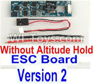 BaYang Toys X16 Parts-35-02 ESC Board-Without Altitude Hold(1pcs)-(Version 2) & Wire(3pcs),BaYang X16 RC Quadcopter Drone Spare Parts,BaYang Toys X16 Accessoriess Replacement