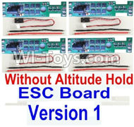 BaYang Toys X16 Parts-36-01 ESC Board-Without Altitude Hold(4pcs)-(Version 1) & & Wire(12pcs),BaYang X16 RC Quadcopter Drone Spare Parts,BaYang Toys X16 Accessoriess Replacement