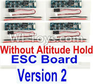 BaYang Toys X16 Parts-36-02 ESC Board-Without Altitude Hold(4pcs)-(Version 2) & Wire(12pcs),BaYang X16 RC Quadcopter Drone Spare Parts,BaYang Toys X16 Accessoriess Replacement