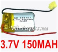 3.7V Battery-3.7V 150MAH 15C Battery with Two Wire-651723,Size:23X17X6.5mm,Weight:4.8g,3.7V Lipo Battery,3.7V Li-ion Battery