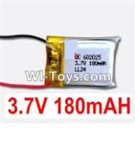 3.7V Battery-3.7v 180mah 15C Battery with Two Wire-602025,Size:25X20Xmm,Weight:6g,3.7V Lipo Battery,3.7V Li-ion Battery