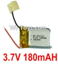 3.7V Battery-3.7v 180mah 15C Battery with Two Wire-701723,Size:25X28X8mm,Weight:5.3g,3.7V Lipo Battery,3.7V Li-ion Battery