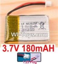 3.7V Battery-3.7v 180mah 15C Battery with White 1.25 Plug-602025 Version 2,Size:25X20X6mm,Weight:6.5g,3.7V Lipo Battery,3.7V Li-ion Battery