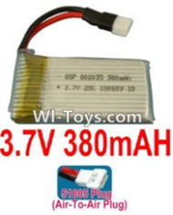 3.7V Battery-3.7v 380mah 25C Battery with 51005 Air-to-air Plug-602035,Size:37X20X8mm,Weight:10.3g,3.7V Lipo Battery,3.7V Li-ion Battery