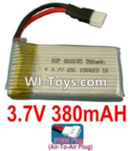 3.7V Battery-3.7v 380mah 25C Battery with 51005 Air-to-air Plug-802035,Size:37x19x8mm,Weight:11.7g,3.7V Lipo Battery,3.7V Li-ion Battery