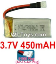 3.7V Battery-3.7V 450mah Battery with 51005 Air-to-air Plug-802042,Size:45X19X8mm,Weight:13.2g,3.7V Lipo Battery,3.7V Li-ion Battery