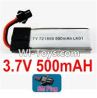 3.7V Battery-3.7v 500mah Battery with Black SM Plug-721855-Version 1 with cover,Size:55X18X7.2mm,Weight:14.2g,3.7V Lipo Battery,3.7V Li-ion Battery