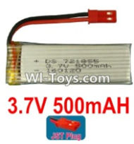 3.7V Battery-3.7v 500mah 15C Battery with Red JST Plug-721855-Version 2 without cover,Size:55X18X7.2mm,Weight:14.2g,3.7V Lipo Battery,3.7V Li-ion Battery