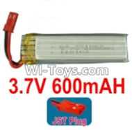 3.7V Battery-3.7v 600mah 15C Battery with Red JST Plug-751862,721860-Version 2,Size:460X18X7.2mm,Weight:16.7g,3.7V Lipo Battery,3.7V Li-ion Battery