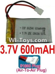 3.7V Battery-3.7V 600mah Battery with 51005 Air-to-air Plug-802540,Size:44X25X8mm,Weight:15.9g,3.7V Lipo Battery,3.7V Li-ion Battery