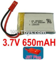 3.7V Battery-3.7v 650mah 15C Battery with Red JST Plug-852540,Size:40X25X8mm,Weight:19g,3.7V Lipo Battery,3.7V Li-ion Battery