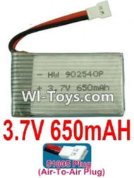 3.7V Battery-3.7v 650mah 15C Battery with White 51005 Air-To-Air Plug-902540,802540,Size:40X25X8mm,Weight:19g,3.7V Lipo Battery,3.7V Li-ion Battery