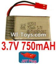 3.7V Battery-3.7V 750mah Battery with Red JST Plug-902540,Size:45X25X9mm,Weight:19.8g,3.7V Lipo Battery,3.7V Li-ion Battery