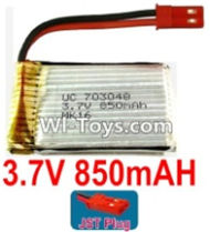 3.7V Battery-3.7v 850mah 15C Battery with Red JST Plug-703048,Size:50X30X7mm,Weight:24g,3.7V Lipo Battery,3.7V Li-ion Battery