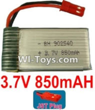 3.7V Battery-3.7v 850mah 15C Battery with Red JST Plug-902540,Size:42X25X9mm,Weight:17.5g,3.7V Lipo Battery,3.7V Li-ion Battery