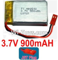 3.7V Battery-3.7v 900mah 15C Battery with Red JST Plug-982540,Size:43X25X10mm,Weight:23g,3.7V Lipo Battery,3.7V Li-ion Battery
