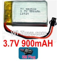 3.7V Battery-3.7v 900mah 15C Battery with Black SM Plug-982540,Size:43X25X10mm,Weight:23g,3.7V Lipo Battery,3.7V Li-ion Battery