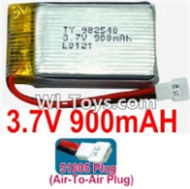 3.7V Battery-3.7v 900mah 15C Battery with White 51005 Air-To-Air Plug-982540,Size:43X25X10mm,Weight:23g,3.7V Lipo Battery,3.7V Li-ion Battery