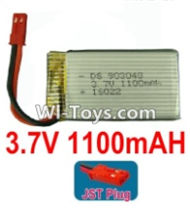 3.7V Battery-3.7v 1100mah 15C Battery with Red JST Plug-903048,Size:52X30X10mm,Weight:31.3g,3.7V Lipo Battery,3.7V Li-ion Battery