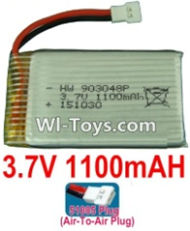 3.7V Battery-3.7v 1100mah 15C Battery with White 51005 Air-To-Air Plug-903048,Size:50X30X9mm,Weight:27g,3.7V Lipo Battery,3.7V Li-ion Battery