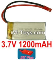 3.7V Battery-3.7v 1200mah 15C Battery with Red JST Plug-993052,Size:55X30X9.9mm,Weight:32g,3.7V Lipo Battery,3.7V Li-ion Battery