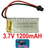 3.7V Battery-3.7v 1200mah 15C Battery with Black SM Plug-993052,Size:55X30X9.9mm,Weight:32g,3.7V Lipo Battery,3.7V Li-ion Battery