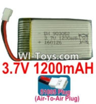 3.7V Battery-3.7v 1200mah 15C Battery with White 51005 Air-To-Air Plug-993052,903052,Size:55X29X9mm,Weight:27.9g,3.7V Lipo Battery,3.7V Li-ion Battery