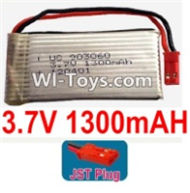 3.7V Battery-3.7v 1300mah 15C Battery with Red JST Plug-903060,Size:62X30X9mm,Weight:32g,3.7V Lipo Battery,3.7V Li-ion Battery
