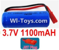 3.7V Battery-3.7v 1100mah 15C Battery with Red JST Plug-18500,Size:52X18X18mm,Weight:37.5g,3.7V Lipo Battery,3.7V Li-ion Battery