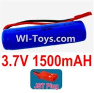 3.7V Battery-3.7v 1500mah 15C Battery with Red JST Plug-18650,Size:67X18X18mm,Weight:37.5g,3.7V Lipo Battery,3.7V Li-ion Battery