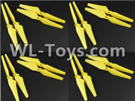 BoMing M50 Spare Parts-01-02 Main rotor blades,Propellers(16pcs)Bo Ming BoMing M50 RC Quadcopter Drone Spare Parts Replacement Accessories M50