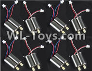 BoMing M50 Spare Parts-09-02 Reversing-rotating Motor with Red and White wire(4pcs) & Rotating Motor with red and Blue wire(4pcs)Bo Ming BoMing M50 RC Quadcopter Drone Spare Parts Replacement Accessories M50