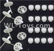 BoMing M50 Spare Parts-10-03 Main gear with shaft(16pcs) & Main gear with shaft(8pcs)Bo Ming BoMing M50 RC Quadcopter Drone Spare Parts Replacement Accessories M50