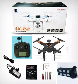 Cheerson CX-22 Quadcopter(Not include the camera)-Black,Cheerson CX-22 RC Drone Quadcopter Spare parts,5.8G real-time image transmission aerial aircraft accessories