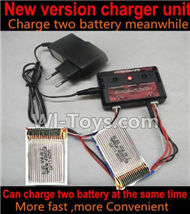 Cheerson CX-33W CX-33S Parts-13-03 Upgrade charger and Balance charger-Can charge two battery at the same time(Not include the 2X battery),Cheerson CX-33W CX-33S RC Drone Quadcopter Spare parts,5.8G real-time image transmission aerial aircraft accessories