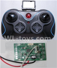 JJRC 21-Transmitter & Circuit board for JJRC H12 H2C H12D RC Quadcopter parts,Drone parts