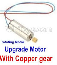 JJRC 57-Upgrade rotating Motor with red and Blue wire(1pcs)-With copper gear for JJRC H12 H2C H12D RC Quadcopter parts,Drone parts