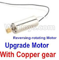 JJRC 58-Reversing-rotating Motor with Black and white wire(1pcs)-With Copper gear for JJRC H12 H2C H12D RC Quadcopter parts,Drone parts