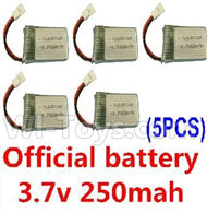 JJRC F180C F180D Parts-19 Official 3.7v 250mah battery(5pcs) For JJRC F180C F180D RC Quadcopter parts,RC Drone parts