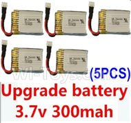 JJRC F180C F180D Parts-20 Upgrade 3.7v 300mah battery for the JJRC F180C F180D Quadcopter(5pcs) For JJRC F180C F180D RC Quadcopter parts,RC Drone parts
