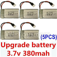 JJRC F180C F180D Parts-21 Upgrade Battery 3.7v 380mah 25C(Size-3.9X2X0.7CM)-5pcs For JJRC F180C F180D RC Quadcopter parts,RC Drone parts