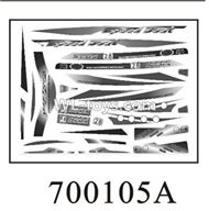 Double Horse DH 7001 RC boat parts ,Shuang Ma 7001 parts-04 Stickers A for the boat shell cover