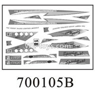 Double Horse DH 7001 RC boat parts ,Shuang Ma 7001 parts-05 Stickers B for the boat shell cover