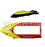 Double Horse 7011 RC boat parts ,Shuang Ma dh 7011 parts-06 Upper shell cover,Upper canopy & Bottom shell cover-Yellow