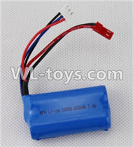 Double Horse 7011 RC boat parts ,Shuang Ma dh 7011 parts-11 Official 7.4v 650mah battery